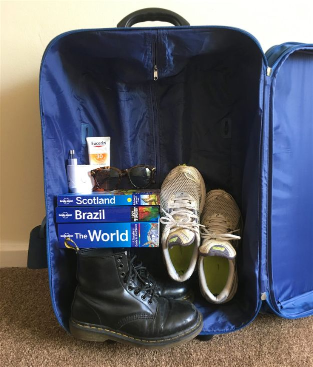 Packing Hacks for Travel - Pack Heaviest Item At The Bottom - How to Pack and Fold Clothes, Save Space in Suitcase - Tips and Tricks for Shoes, Makeup, Toiletries, Carry On Luggage for Trips