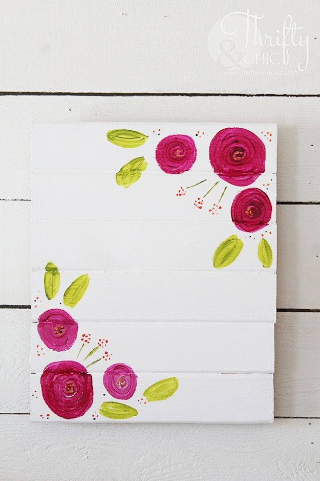 How To Paint Flowers - Painted Picture Frame - Step by Step Tutorials for Painting Roses, Daisies, Whimsical and Abstract Floral Techniques - Easy Acrylic Flower Tutorial for Beginners - Paint on Wood, Canvas, On Wasll, Rocks, Fabric and Paper - Step by Step Instructions and How To #painting #diy