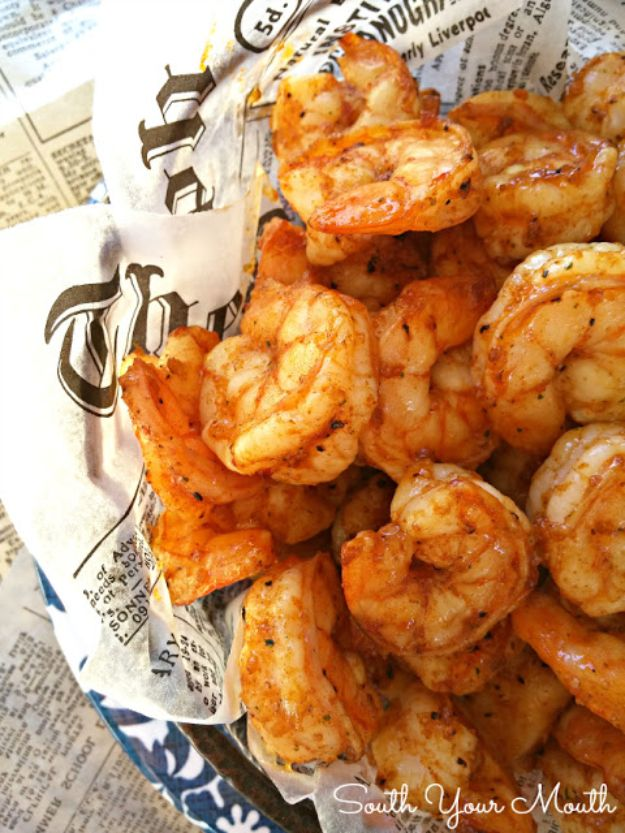 Shrimp Recipes - Party Shrimp - Healthy, Easy Recipe Ideas for Dinner Using Shrimp - Grilled, Creamy Baked Pasta, Fried, Spicy Asian Style, Mexican, Sauteed Garlic