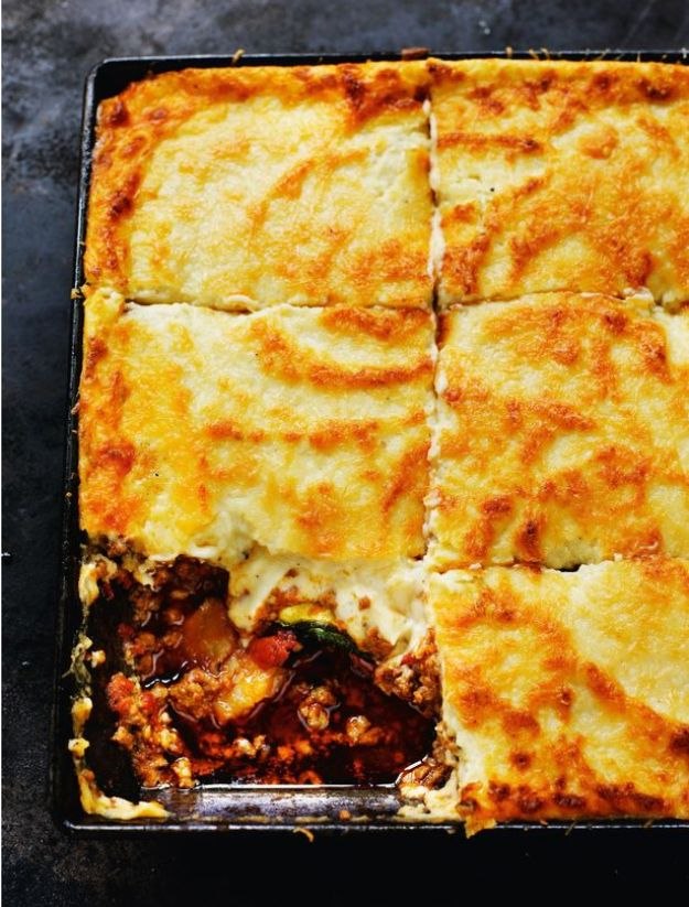 Celebrity Inspired Recipes - Patrick Leigh Fermor's Moussaka - Healthy Dinners, Pies, Sweets and Desserts, Cooking for Families and Holidays - Crock Pot Treats