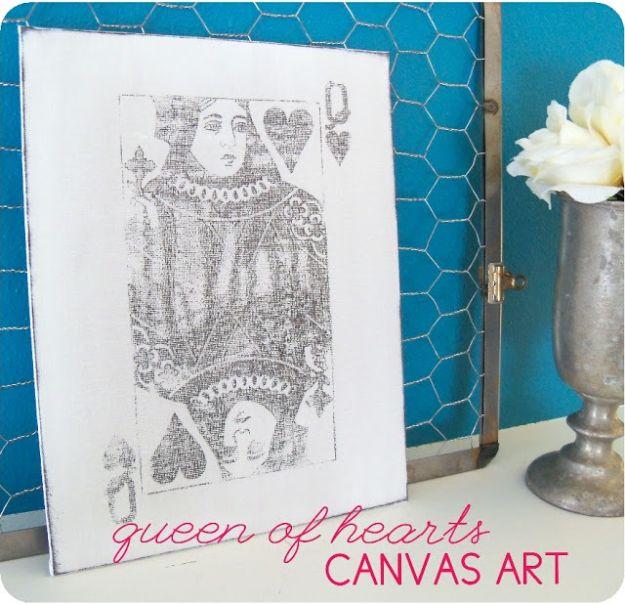 Queen of Hearts Canvas Art