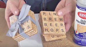 Repurpose An Old Game Of Scrabble Into These Adorable Coasters