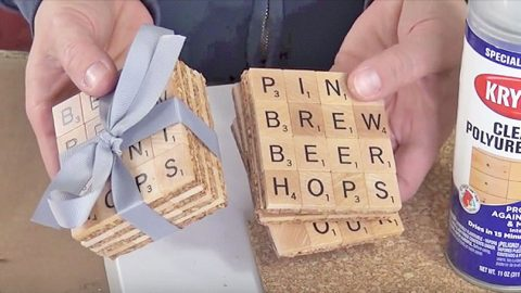 Repurpose An Old Game Of Scrabble Into These Adorable Coasters   DIY Joy Projects and Crafts Ideas
