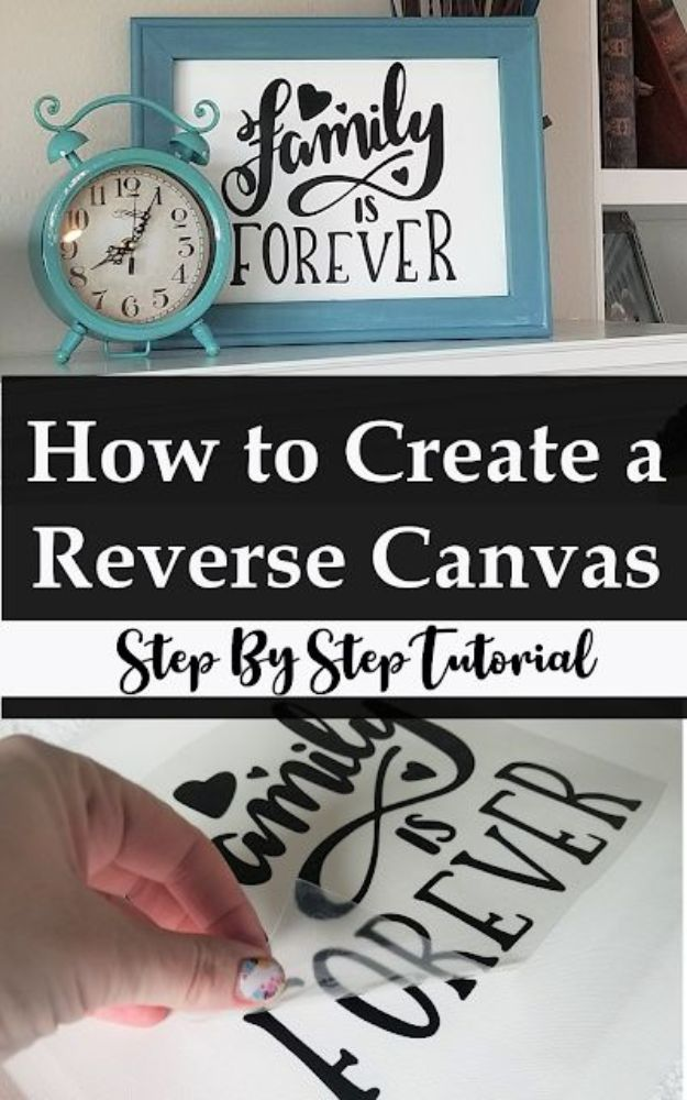Cool Art Ideas for Quotes - Canvas Transfer Ideas - How to Put Images on Canvases - Step by Step DIY Reverse Canvas