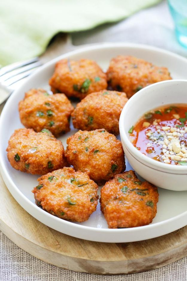Shrimp Recipes - Thai Shrimp Cake - Healthy, Easy Recipe Ideas for Dinner Using Shrimp - Grilled, Creamy Baked Pasta, Fried, Spicy Asian Style, Mexican, Sauteed Garlic