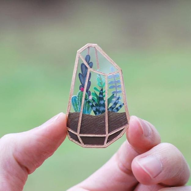 Crafts To Make and Sell - Tiny Terrariums - 75 MORE Easy DIY Ideas for Cheap Things To Sell on Etsy, Online and for Craft Fairs. Make Money  with crafts to sell ideas #crafts