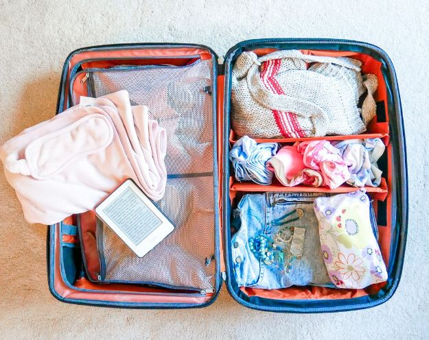 Packing Hacks for Travel - Use Packing Cubes - How to Pack and Fold Clothes, Save Space in Suitcase - Tips and Tricks for Shoes, Makeup, Toiletries, Carry On Luggage for Trips