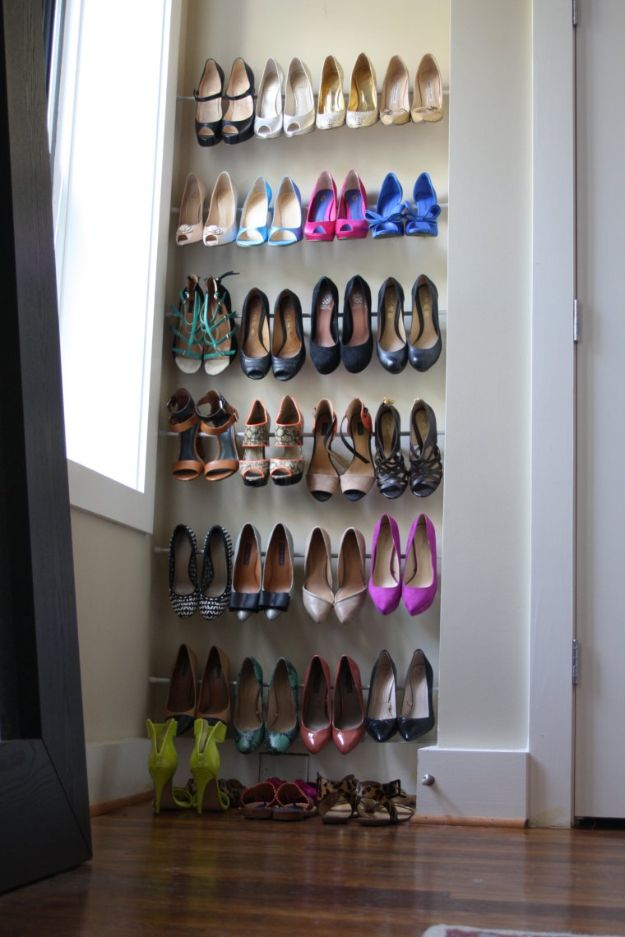 Closet Organization Ideas - Use Tension Rods - DIY Closet Organizing Tutorials - Hacks, Tips and Tricks for Closets With Storage, Shoe Racks, Small Space Idea - Projects for Bedroom, Kids, Master, Walk in