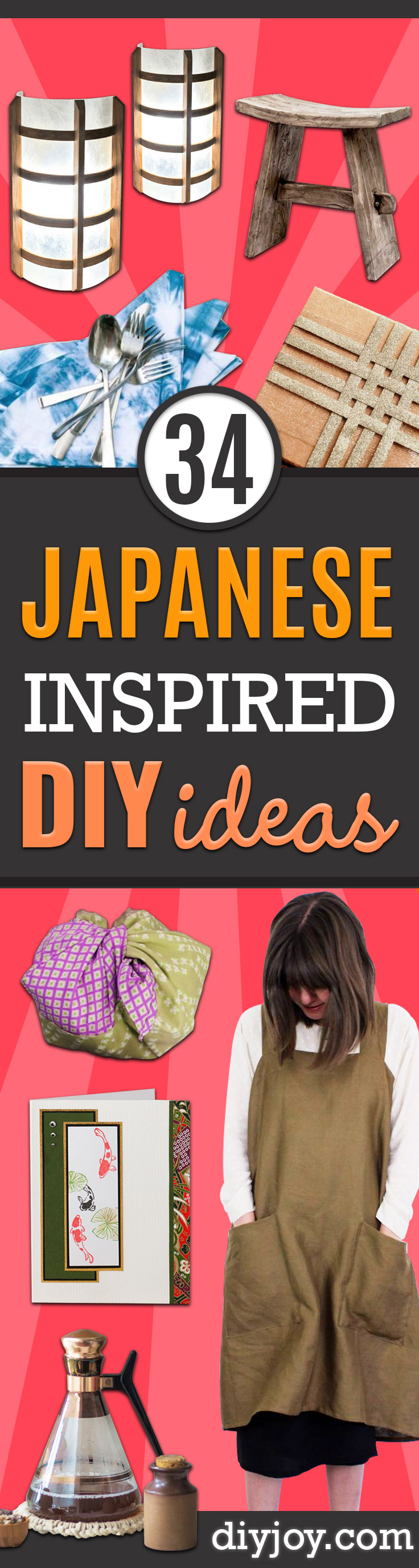 Japanese DIY Ideas and Crafts Inspired by Japan- Boxes, Home Decorations, Room Decor, Fashion, Jewelry Tutorials, Wall Art and Gifts