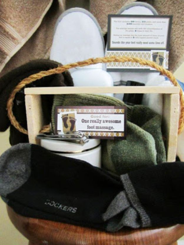 "DIY Gifts for Him - ""Sock"" it to him - Homemade Gift Ideas for Guys - DYI Christmas Gift for Dad, Boyfriend, Husband Brother - Easy and Cheap Handmade Presents Birthday #diy #gifts #diygifts #mensgifts"