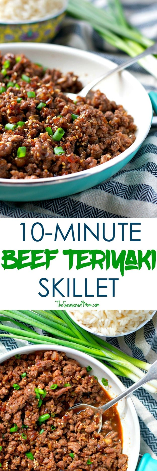 Best Recipes With Ground Beef - 10-Minute Beef Teriyaki Skillet - Easy Dinners and Ground Beef Recipe Ideas - Quick Lunch Salads, Casseroles, Tacos, One Skillet Meals - Healthy Crockpot Foods With Hamburger Meat - Mexican Casserole, Instant Pot Carne Molida, Low Carb and Keto Diet - Rice, Pasta, Potatoes and Crescent Rolls #groundbeef #beefrecipes #beedrecipe #dinnerideas #dinnerrecipes http://diyjoy.com/best-recipes-ground-beef
