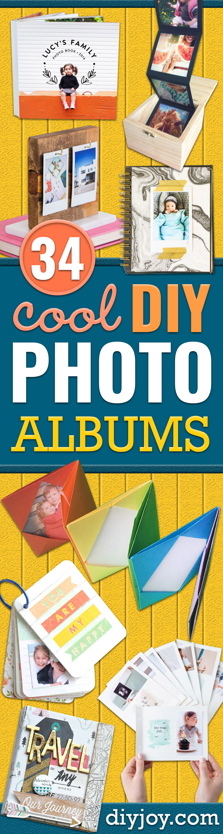 DIY Photo Albums - Easy DIY Christmas Gifts for Grandparents, Friends, Him or Her, Mom and Dad - Creative Ideas for Making Wall Art and Home Decor With Photos