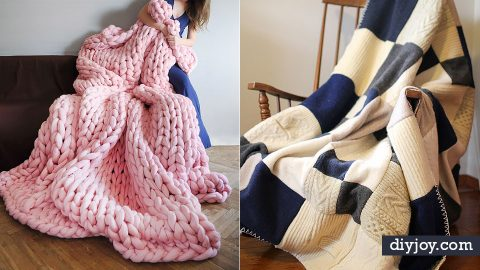 34 Throw Blankets To Keep You Warm This Winter | DIY Joy Projects and Crafts Ideas