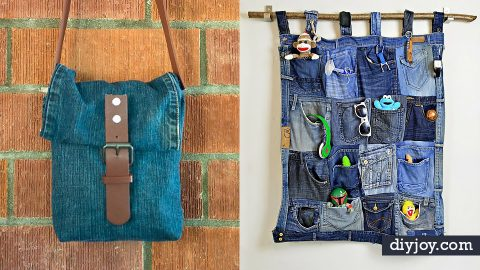 35 Blue Jean Upcycles You Can Make for Next To Nothing | DIY Joy Projects and Crafts Ideas