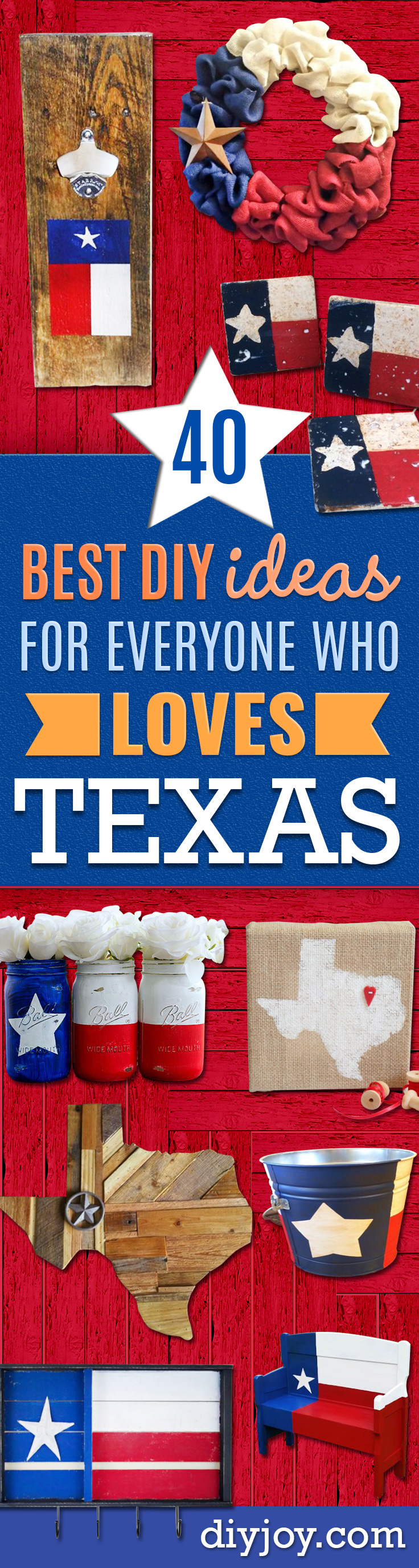 DIY Ideas For Everyone Who Loves Texas - Cute Lone Star State Crafts In The Shape of Texas - Best Texan Quotes, Sayings and Signs for Your Porch and Home - Easy Texas Themed Decorating Ideas - Country Crafts, Rustic Home Decor, String Art and Map Projects Shaped Like Texas - Decor for Living Room, Bedroom, Bathroom, Kitchen and Yard http://diyjoy.com/diy-ideas-Texas