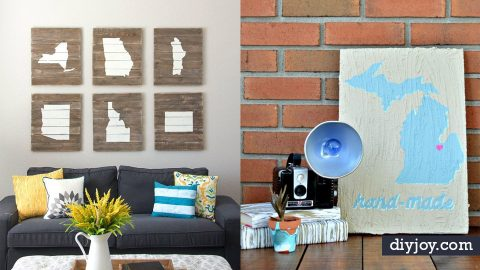 40 Cool State Crafts To Show Your Love For Where You Live | DIY Joy Projects and Crafts Ideas