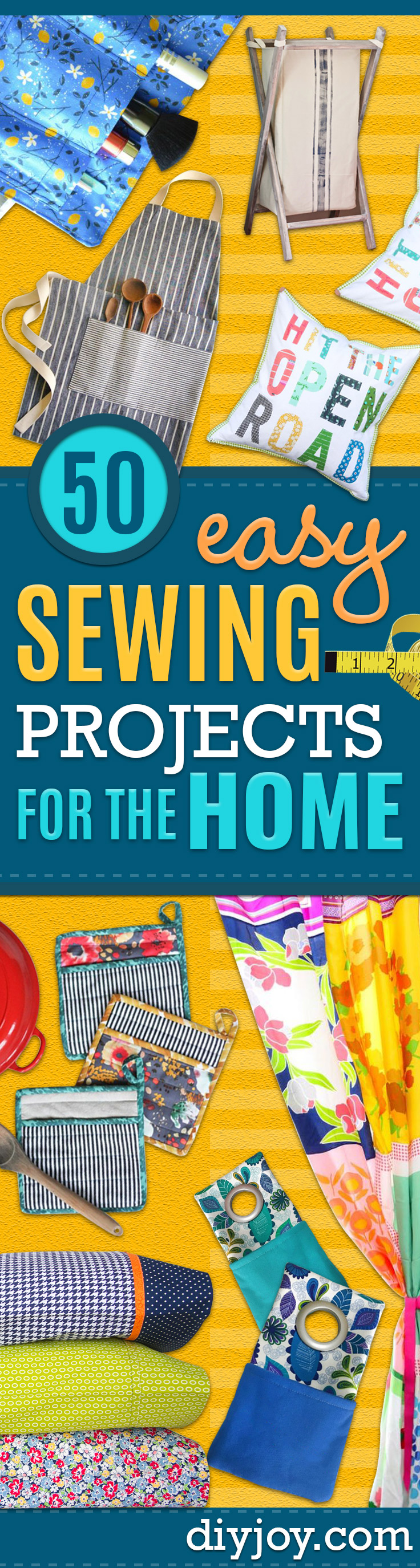 Sewing Projects for The Home - Free DIY Sewing Patterns, Easy Ideas and Tutorials for Curtains, Upholstery, Napkins, Pillows and Decor Project Idea to Sew Pinterest - Tutorial or Pattern Included