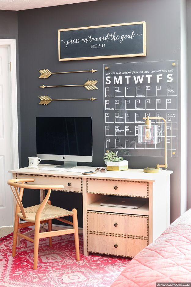 Craft Room Organization Ideas - Acrylic Wall Calendar - DIY Dollar Store Projects for Crafts - Budget Ways to Declutter While Organizing Supplies - Shelves, IKEA Hacks, Small Space Ideas