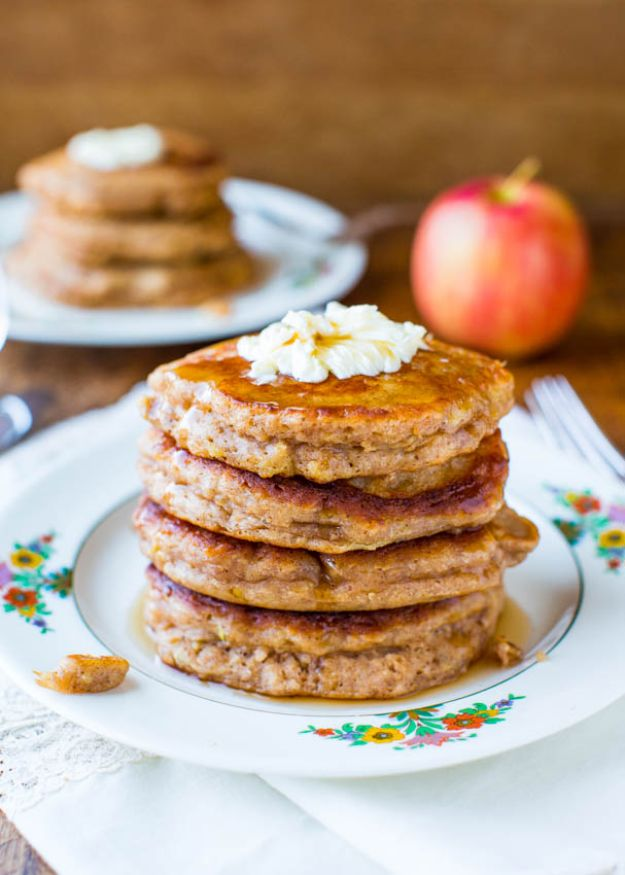 Best Pancake Recipes - Apple Pie Pancakes with Vanilla Maple Syrup - Homemade Pancakes With Banana, Berries, Fruit and Maple Syrup - How To Make Pancake Mix at Home - Gluten Free, Low Fat and Healthy Recipes - Breakfast and Brunch Recipe Ideas - Silver Dollar, Buttermilk, Make Ahead and Quick Versions With Strawberries and Blueberries #pancakes #pancakerecipes #recipeideas #breakfast #breakfastrecipes http://diyjoy.com/pancake-recipes