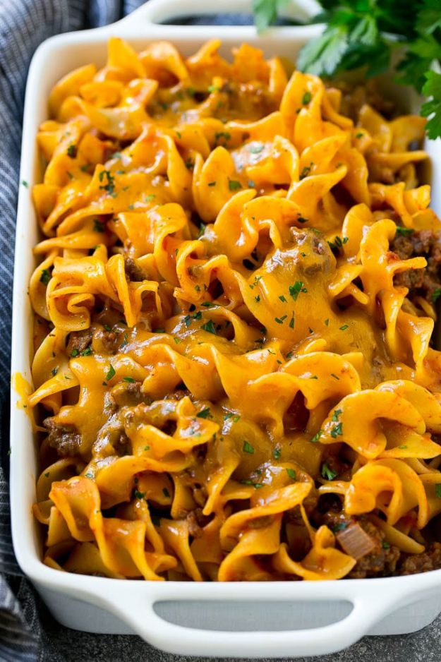 Best Recipes With Ground Beef - Beef Noodle Casserole - Easy Dinners and Ground Beef Recipe Ideas - Quick Lunch Salads, Casseroles, Tacos, One Skillet Meals - Healthy Crockpot Foods With Hamburger Meat - Mexican Casserole, Instant Pot Carne Molida, Low Carb and Keto Diet - Rice, Pasta, Potatoes and Crescent Rolls #groundbeef #beefrecipes #beedrecipe #dinnerideas #dinnerrecipes http://diyjoy.com/best-recipes-ground-beef