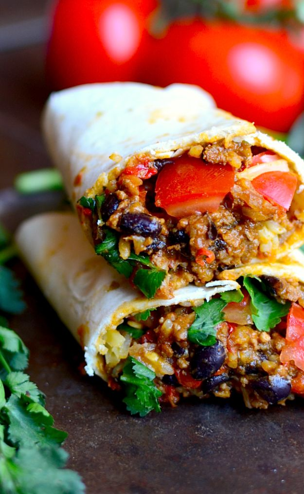 Best Mexican Food Recipes - Best Basic Burritos - Authentic Mexican Foods and Recipe Ideas for Casseroles, Quesadillas, Tacos, Appetizers, Tamales, Enchiladas, Crockpot, Chicken, Beef and Healthy Foods - Desserts and Dessert Ideas Like Churros , Flan amd Sopapillas #recipes #mexicanfood #mexicanrecipes #recipeideas #mexicandishes http://diyjoy.com/mexican-food-recipes