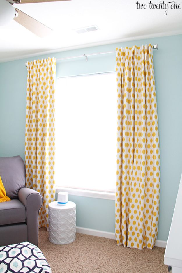 DIY Sewing Projects for the Home - Blackout Curtains - Easy DIY Christmas Gifts and Ideas for Making Kitchen, Bedroom and Bathroom Decor - Free Step by Step Tutorial to Sew