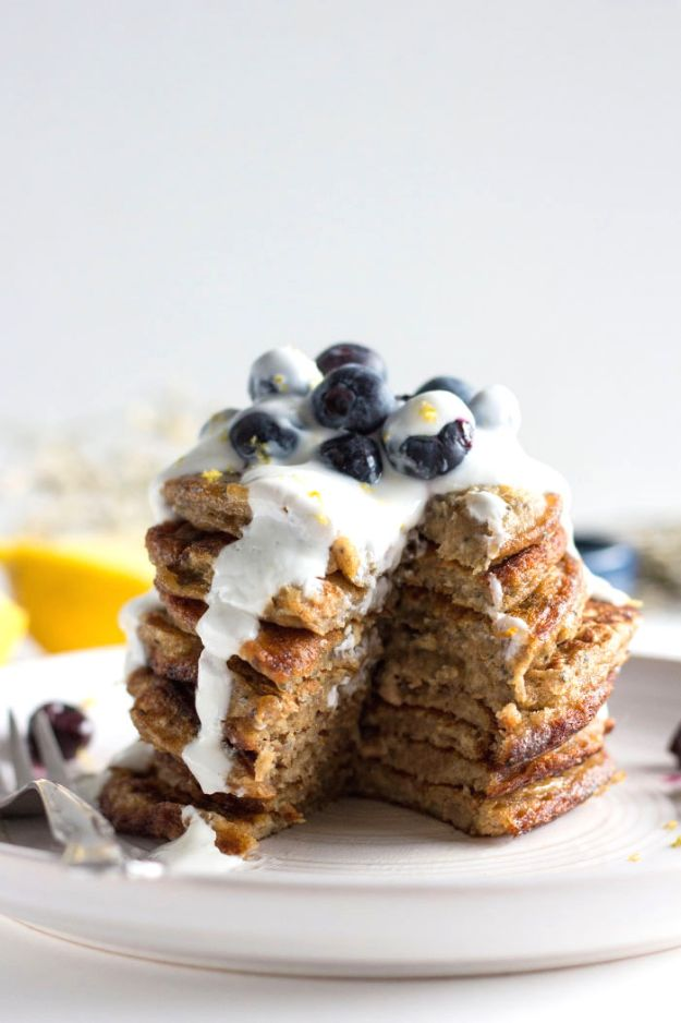 Best Pancake Recipes - Blueberry Chia Seed Pancakes - Homemade Pancakes With Banana, Berries, Fruit and Maple Syrup - How To Make Pancake Mix at Home - Gluten Free, Low Fat and Healthy Recipes - Breakfast and Brunch Recipe Ideas - Silver Dollar, Buttermilk, Make Ahead and Quick Versions With Strawberries and Blueberries #pancakes #pancakerecipes #recipeideas #breakfast #breakfastrecipes http://diyjoy.com/pancake-recipes