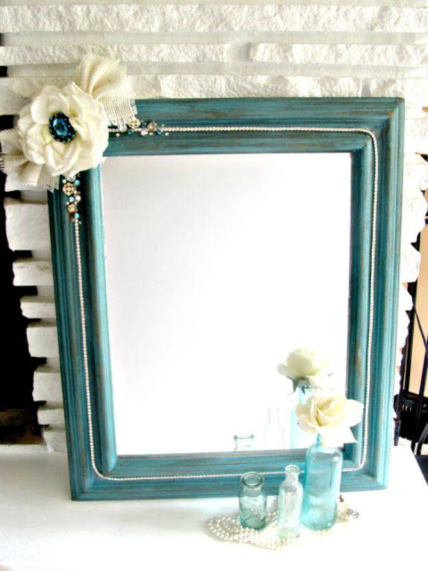 DIY Boho Decor Ideas - Boho Chic Mirror - DIY Bedroom Ideas - Cheap Hippie Crafts and Bohemian Wall Art - Easy Upcycling Projects for Living Room, Bathroom, Kitchen #boho #diy #diydecor