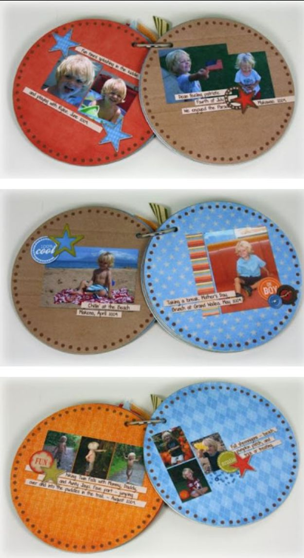 DIY Ideas With Old CD - CD Mini Album - Do It Yourself Crafts and Projects Using Old Compact Discs - Recycle Jewelry, Room Decoration Mosaic, Coasters, Garden Art and DIY Home Decor Using Broken DVD - Photo Album, Wall Art and Mirror - Cute and Easy DIY Gifts for Birthday and Christmas Holidays http://diyjoy.com/diy-ideas-old-cd-compact-disc