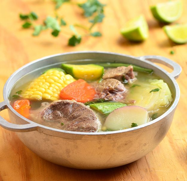 Best Mexican Food Recipes - Caldo de Res - Mexican Beef Soup - Authentic Mexican Foods and Recipe Ideas for Casseroles, Quesadillas, Tacos, Appetizers, Tamales, Enchiladas, Crockpot, Chicken, Beef and Healthy Foods - Desserts and Dessert Ideas Like Churros , Flan amd Sopapillas #recipes #mexicanfood #mexicanrecipes #recipeideas #mexicandishes http://diyjoy.com/mexican-food-recipes