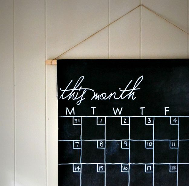 DIY Calendars - Calendar Wall Hanger - Homemade Calender Ideas That Make Great Cheap Gifts for Christmas - Desk, Wall and Glass Dry Erase Organizing Calendar Projects With Step by Step Tutorials - Paint, Stamp, Magnetic, Family Planner and Organizer #diycalendar #diyideas #crafts #calendars #organizing #diygifts #calendars #diyideas