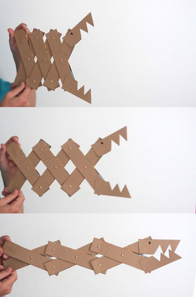 Cool DIY Ideas With Cereal Boxes - Cereal Box Monster Jaws - Easy Organizing Ideas, Cute Kids Crafts and Creative Ways to Make Things Out of A Cereal Box - Cheap Gifts, DIY School Supplies and Storage Ideas http://diyjoy.com/diy-ideas-cereal-boxes