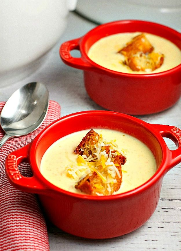 Best Recipes for the Cheese Lover - Cheese Soup - Easy Recipe Ideas With Cheese - Homemade Appetizers, Dips, Dinners, Snacks, Pasta Dishes, Healthy Lunches and Soups Made With Your Favorite Cheeses - Ricotta, Cheddar, Swiss, Parmesan, Goat Chevre, Mozzarella and Feta Ideas - Grilled, Healthy, Vegan and Vegetarian #cheeserecipes #recipes #recipeideas #cheese #cheeserecipe http://diyjoy.com/best-recipes-cheese-lover