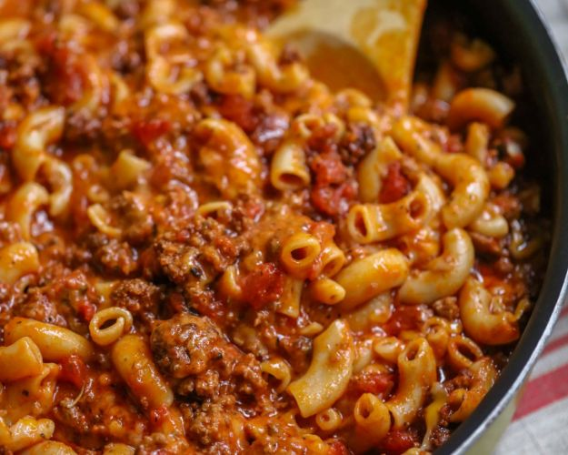 Best Recipes With Ground Beef - Cheesy Beef Goulash - Easy Dinners and Ground Beef Recipe Ideas - Quick Lunch Salads, Casseroles, Tacos, One Skillet Meals - Healthy Crockpot Foods With Hamburger Meat - Mexican Casserole, Instant Pot Carne Molida, Low Carb and Keto Diet - Rice, Pasta, Potatoes and Crescent Rolls #groundbeef #beefrecipes #beedrecipe #dinnerideas #dinnerrecipes http://diyjoy.com/best-recipes-ground-beef
