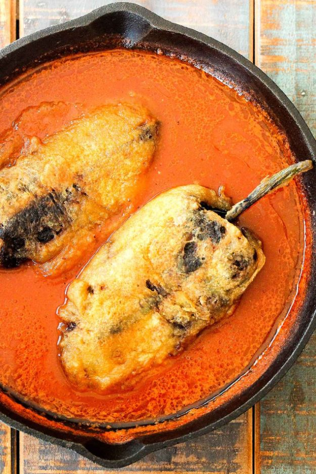 Best Mexican Food Recipes - Chiles Rellenos Stuffed With Mexican Queso - Authentic Mexican Foods and Recipe Ideas for Casseroles, Quesadillas, Tacos, Appetizers, Tamales, Enchiladas, Crockpot, Chicken, Beef and Healthy Foods - Desserts and Dessert Ideas Like Churros , Flan amd Sopapillas #recipes #mexicanfood #mexicanrecipes #recipeideas #mexicandishes http://diyjoy.com/mexican-food-recipes