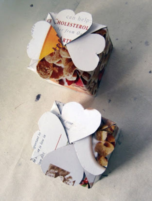 Cool DIY Ideas With Cereal Boxes - Clever Gift Box - Easy Organizing Ideas, Cute Kids Crafts and Creative Ways to Make Things Out of A Cereal Box - Cheap Gifts, DIY School Supplies and Storage Ideas http://diyjoy.com/diy-ideas-cereal-boxes