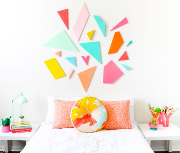 DIY Home Decor Projects for Beginners - Colorful Headboard - Easy Homemade Decoration for Your House or Apartment - Creative Wall Art, Rugs, Furniture and Accessories for Kitchen - Quick and Cheap Ways to Decorate on A Budget - Farmhouse, Rustic, Modern, Boho and Minimalist Style With Step by Step Tutorials #diy