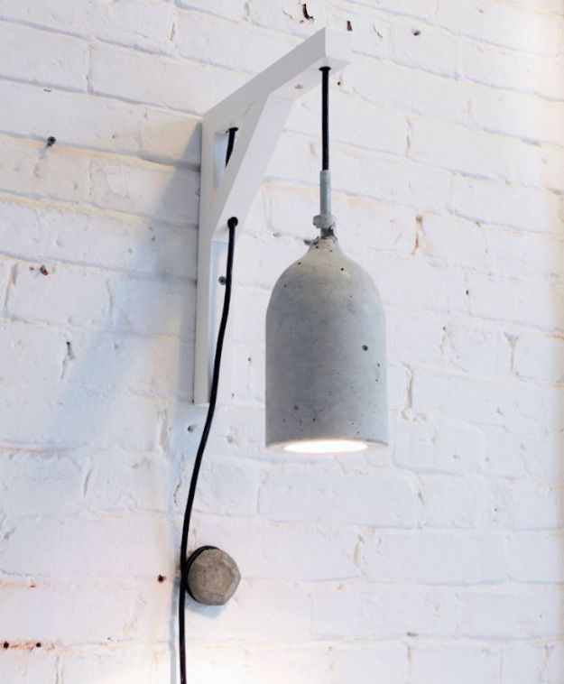 DIY Projects With Concrete - Concrete Pendant Lamps - Easy Home Decor and Cheap Crafts Made With Cement - Ideas for DIY Christmas Gifts, Outdoor Decorations