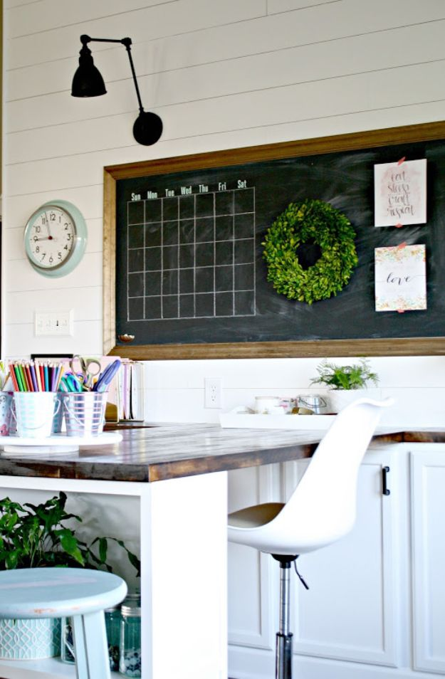 Craft Room Organization Ideas - Craft Room Chalkboard - DIY Dollar Store Projects for Crafts - Budget Ways to Declutter While Organizing Supplies - Shelves, IKEA Hacks, Small Space Ideas