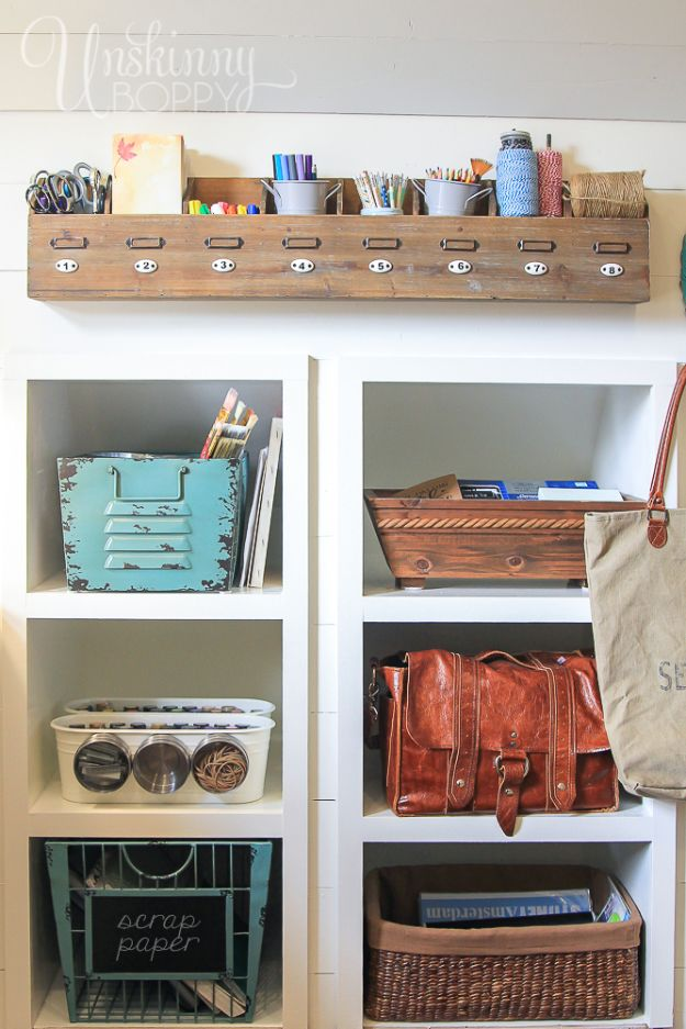 Craft Room Organization Ideas - Craft Room Organization Under $100 - DIY Dollar Store Projects for Crafts - Budget Ways to Declutter While Organizing Supplies - Shelves, IKEA Hacks, Small Space Ideas