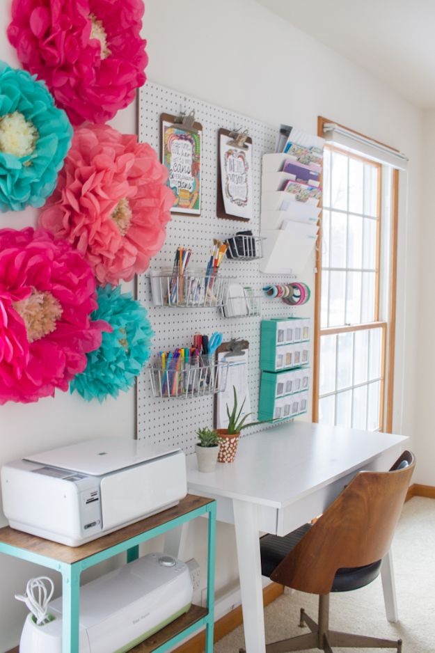 Craft Room Organization Ideas - Craft Room Storage Organization - DIY Dollar Store Projects for Crafts - Budget Ways to Declutter While Organizing Supplies - Shelves, IKEA Hacks, Small Space Ideas