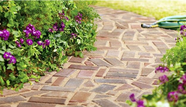 DIY Walkways - DIY Brick Path - Do It Yourself Walkway Ideas for Paths to The Front Door and Backyard - Cheap and Easy Pavers and Concrete Path and Stepping Stones - Wood and Edging, Lights, Backyard and Patio Walks With Gravel, Sand, Dirt and Brick http://diyjoy.com/diy-walkways