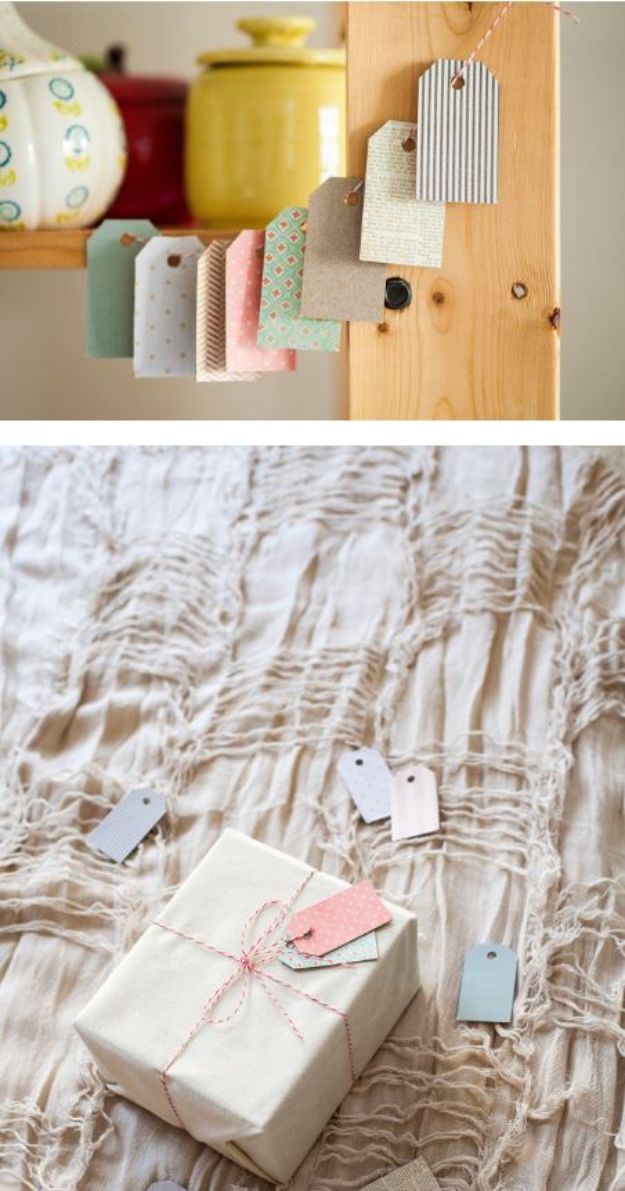 Cool DIY Ideas With Cereal Boxes - DIY Cereal Box Gift Tags - Easy Organizing Ideas, Cute Kids Crafts and Creative Ways to Make Things Out of A Cereal Box - Cheap Gifts, DIY School Supplies and Storage Ideas http://diyjoy.com/diy-ideas-cereal-boxes