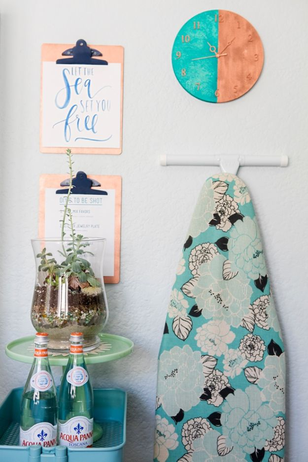 Craft Room Organization Ideas - DIY Clipboard and Clock - DIY Dollar Store Projects for Crafts - Budget Ways to Declutter While Organizing Supplies - Shelves, IKEA Hacks, Small Space Ideas