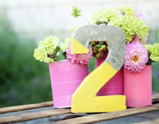DIY Projects With Concrete - DIY Concrete Table Numbers - Easy Home Decor and Cheap Crafts Made With Cement - Ideas for DIY Christmas Gifts, Outdoor Decorations