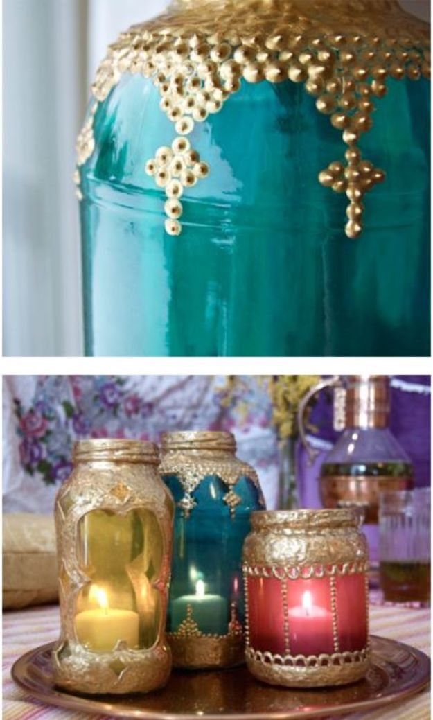 DIY Boho Decor Ideas - DIY Moroccan Lanterns - DIY Bedroom Ideas - Cheap Hippie Crafts and Bohemian Wall Art - Easy Upcycling Projects for Living Room, Bathroom, Kitchen #boho #diy #diydecor