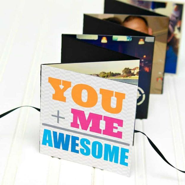 DIY Photo Albums - DIY Photo Book Album - Easy DIY Christmas Gifts for Grandparents, Friends, Him or Her, Mom and Dad - Creative Ideas for Making Wall Art and Home Decor With Photos