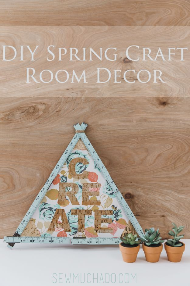Craft Room Organization Ideas - DIY Spring Craft Room Decor - DIY Dollar Store Projects for Crafts - Budget Ways to Declutter While Organizing Supplies - Shelves, IKEA Hacks, Small Space Ideas