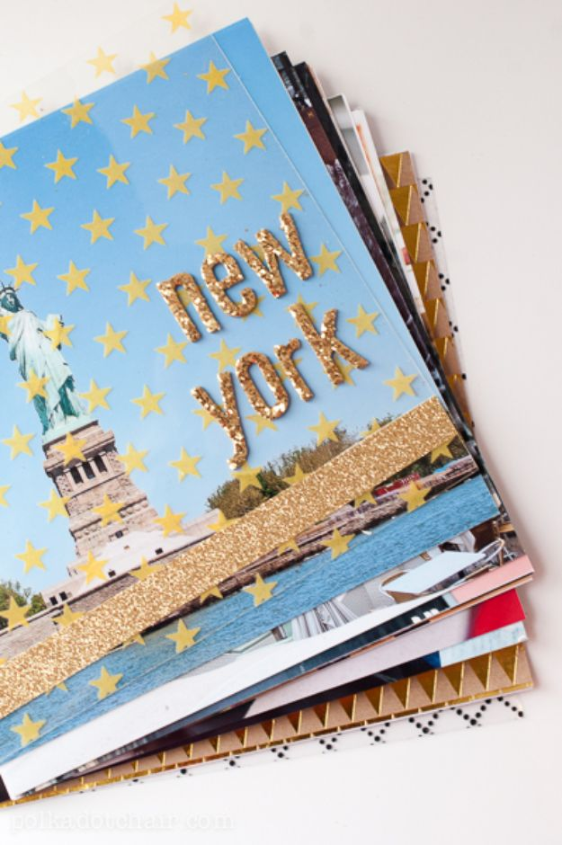 DIY Photo Albums - DIY Travel Album - Easy DIY Christmas Gifts for Grandparents, Friends, Him or Her, Mom and Dad - Creative Ideas for Making Wall Art and Home Decor With Photos