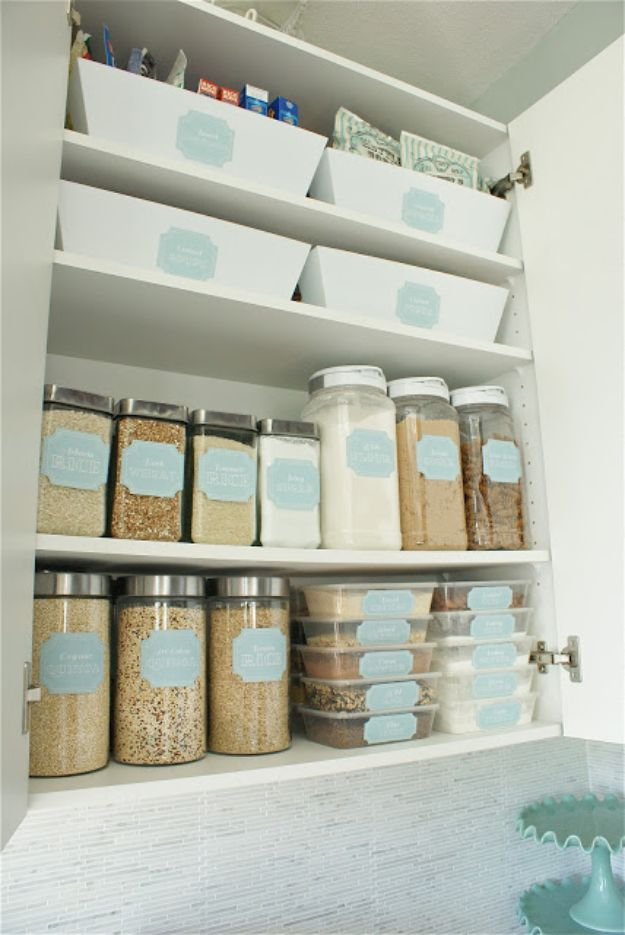 Dollar Store Organizing Ideas - Dollar Store Pantry Makeover - Easy Organization Projects from Dollar Tree and Dollar Stores - Quick Closet Makeovers, Pantry Storage, Shoe Box Projects, Tension Rods, Car and Household Cleaning - Hacks and Tips for Organizing on a Budget - Cheap Idea for Reducing Clutter around the House, in the Kitchen and Bedroom http://diyjoy.com/dollar-store-organizing-ideas